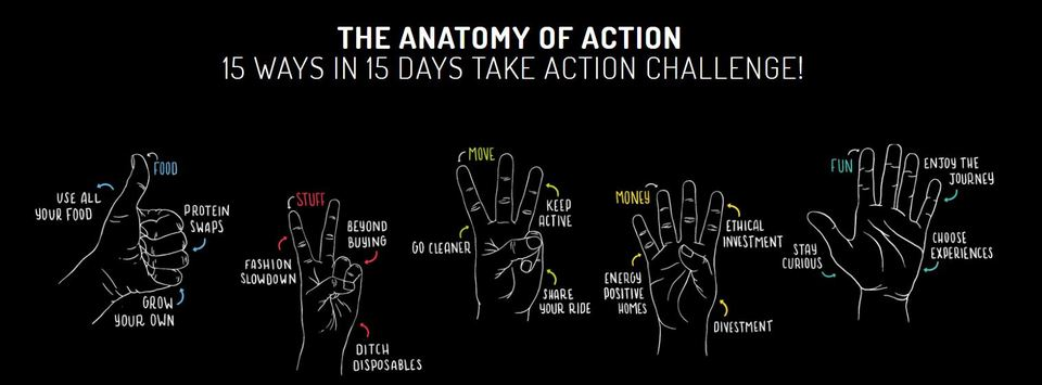 Anatomy of action sustainable lifestyle challenge