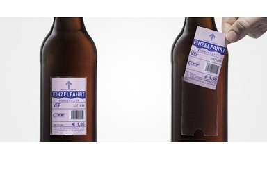 Austrian beer company labels bottles with free rides home