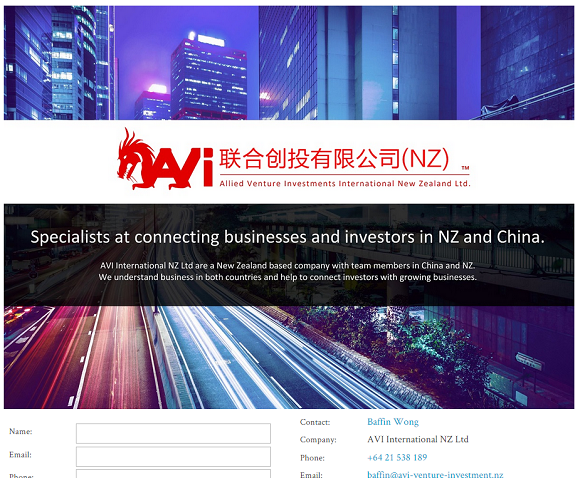 Allied Venture Investments International China NZ